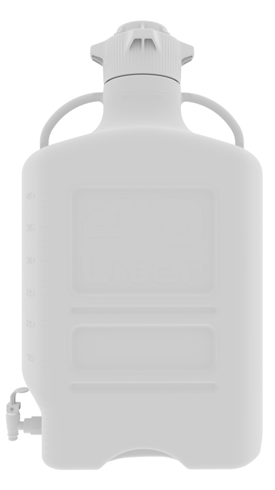 Foxx Life Sciences 40L PP Carboy with 120mm Cap and Spigot