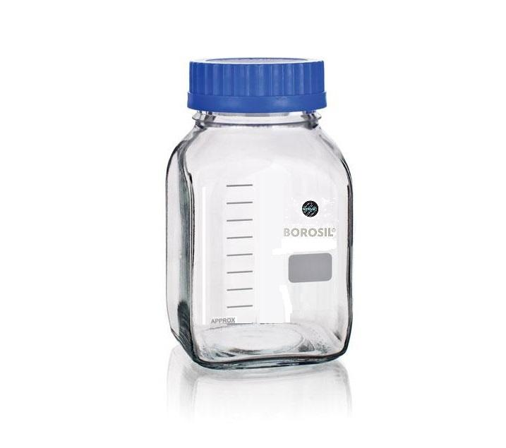 Borosil® Wide Mouth Bottle - Square - 5L - 1/EA