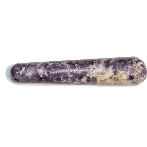 charged himalayan lepidolite massage wand crystal healing