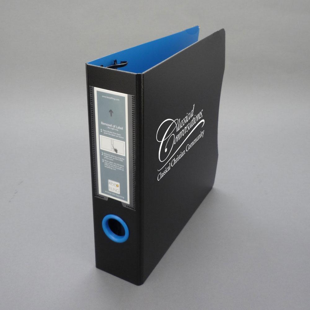 CC Card Binder with Inserts -Black/Blue