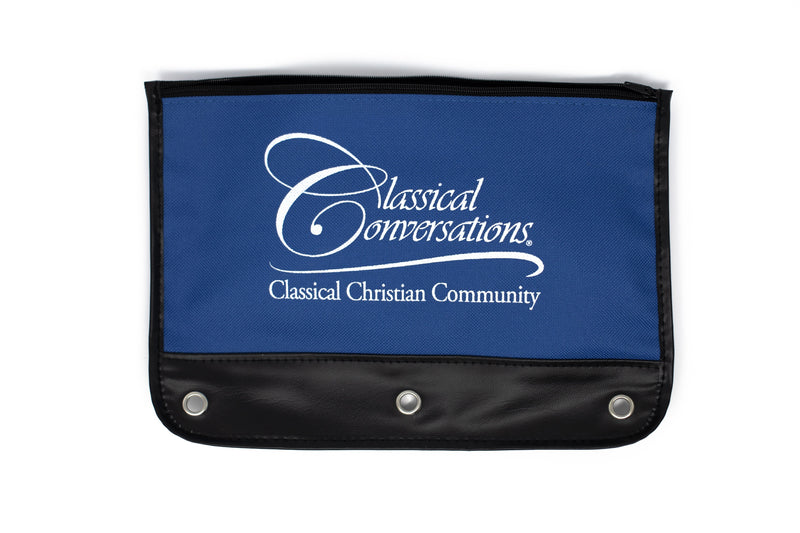 Zippered Pencil Pouch - blue - Temporarily Out of Stock