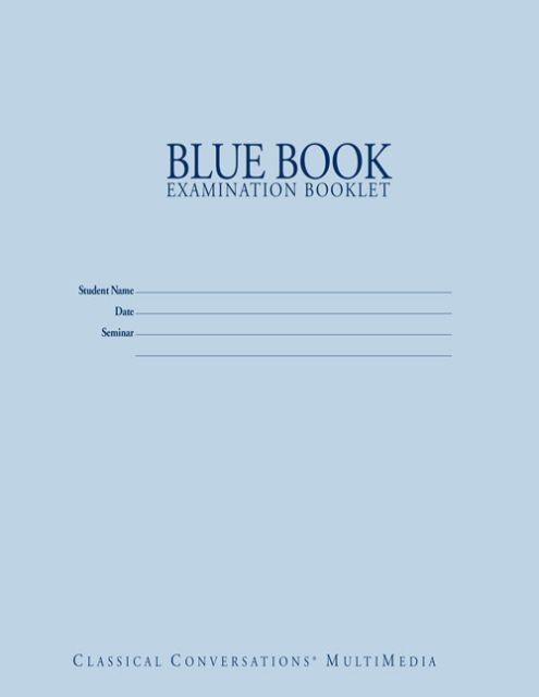 BLUE BOOK EXAM BOOKLET (12-PACK)