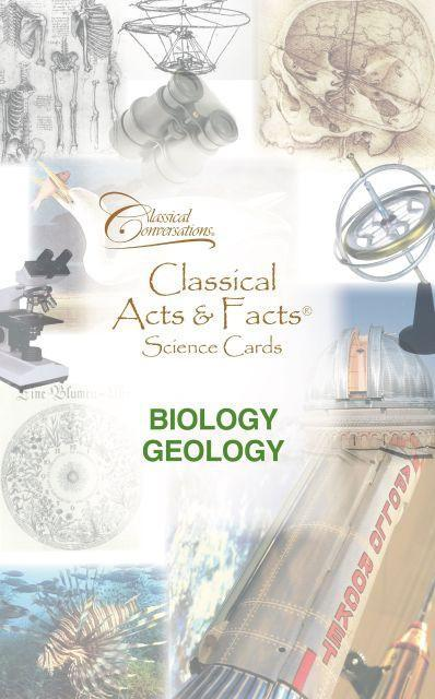 Classical Acts & Facts® Science Cards: Biology, Geology