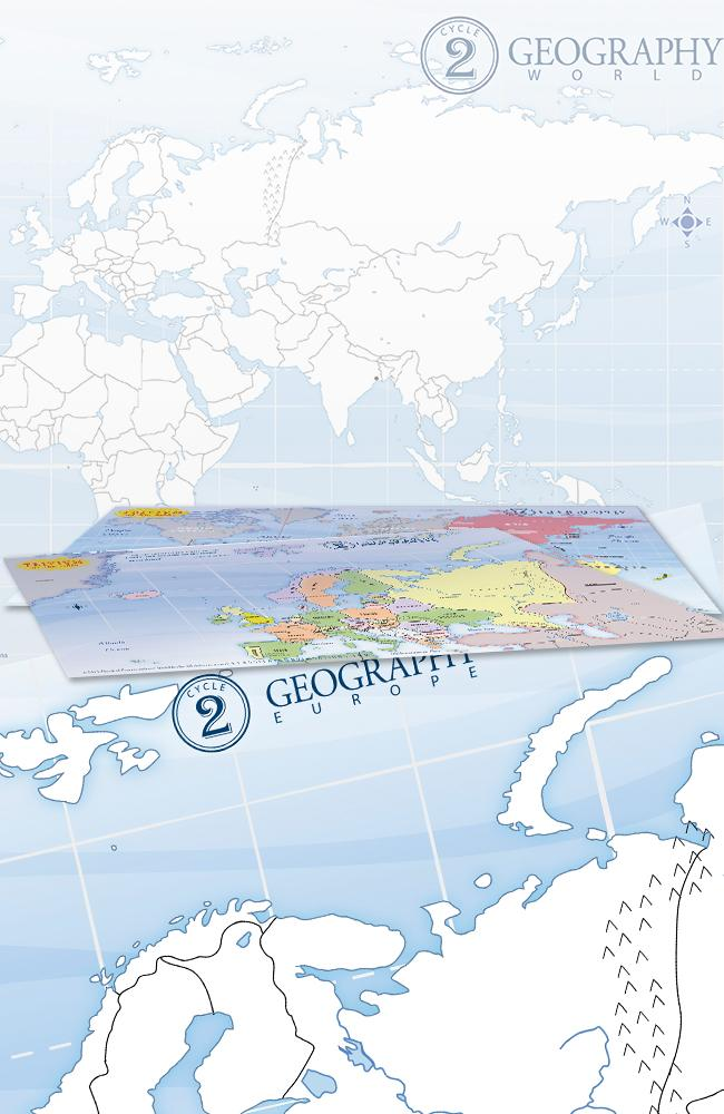TRIVIUM AT THE TABLE PLACEMATS: CYCLE 2 GEOGRAPHY (SET OF 2)