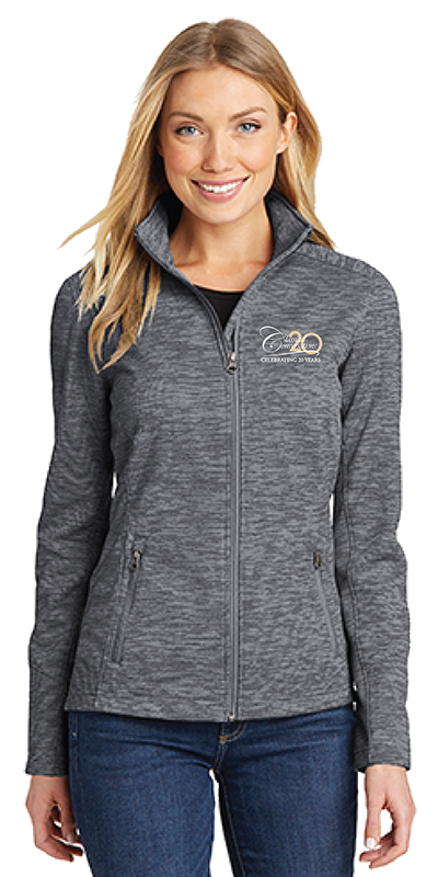 Women's Digi Stripe Fleece Jacket- Black - While Supplies Last