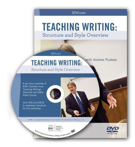 IEW Teaching Writing Structure and Style Overview DVD, 2nd ed