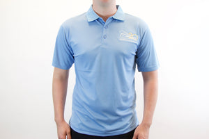 Men's Ultra Club Cool & Dry Mesh Pique Polo- Columbia Blue. - While Supplies Last