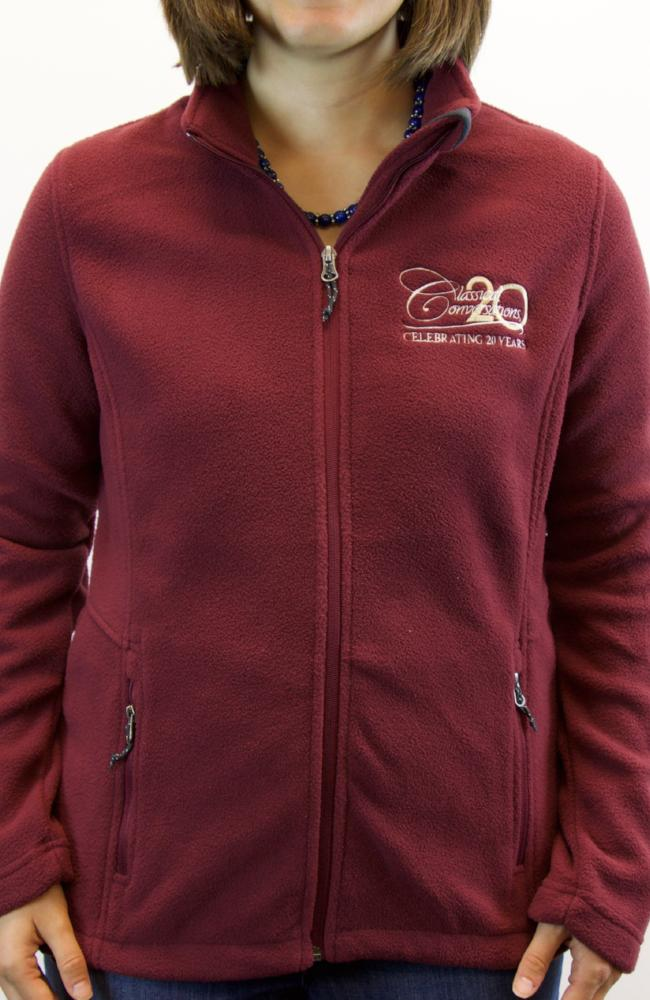 Women's Port Authority Value Fleece Jacket- Maroon