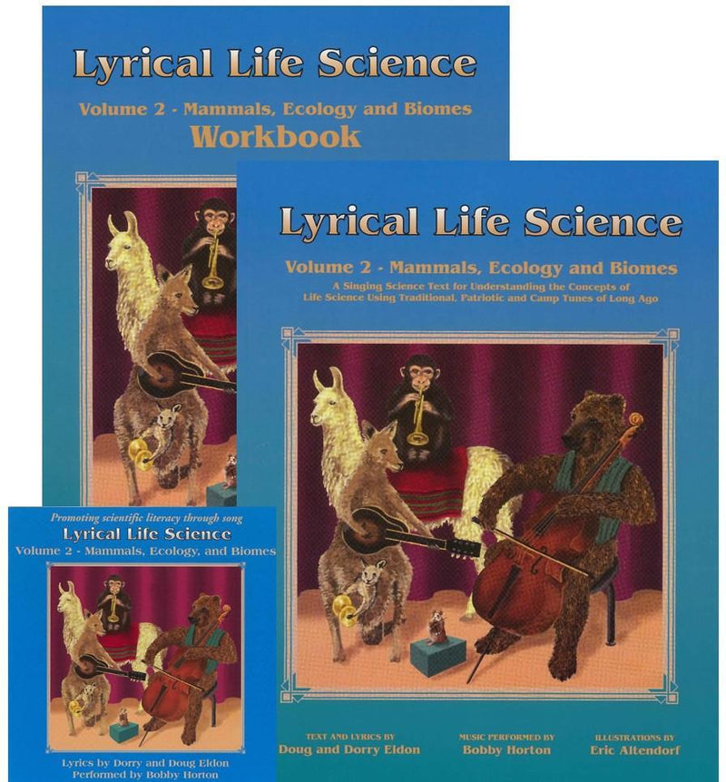 LYRICAL LIFE SCIENCE, VOL 2: MAMMALS, ECOLOGY & BIOMES (SET)