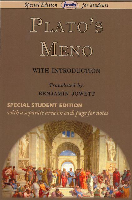 PLATO'S MENO - Temporarily Out of Stock