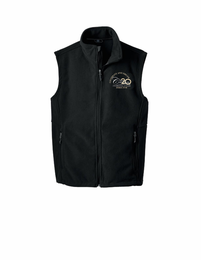 Men's Director Tyndall Microfleece Vest- Black- Exclusive Director Logo!