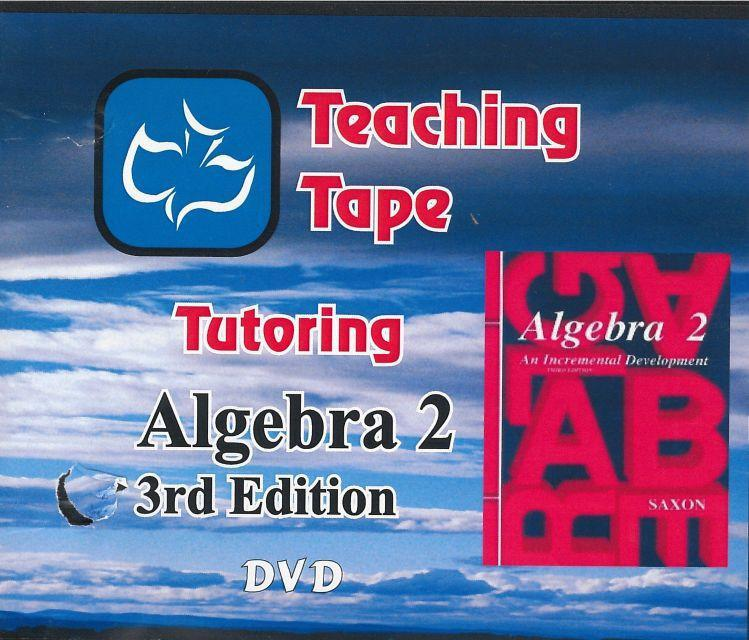 SAXON ALGEBRA 2 DVD SET - WHILE SUPPLIES LAST
