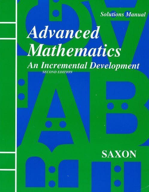 SAXON ADVANCED MATH SOLUTIONS MANUAL