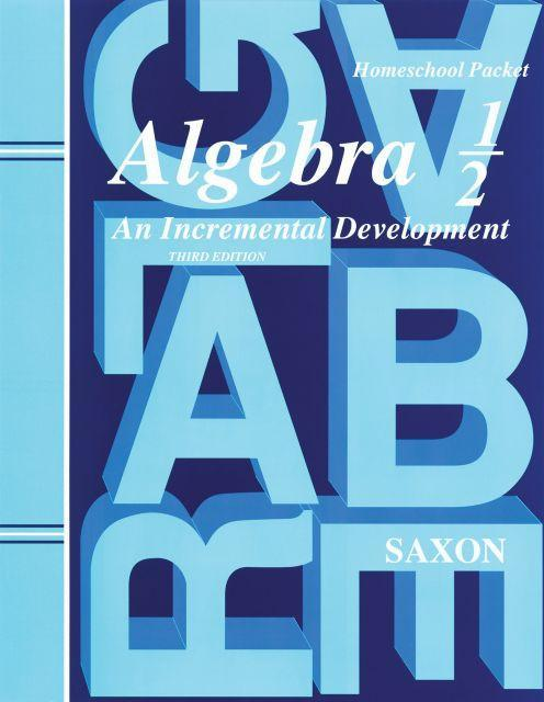 SAXON ALGEBRA 1/2 HOMESCHOOL KIT
