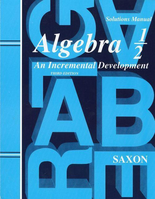 SAXON ALGEBRA 1/2 SOLUTIONS MANUAL