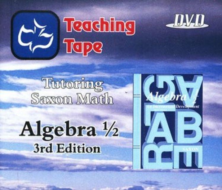 SAXON ALGEBRA 1/2 DVD SET - WHILE SUPPLIES LAST