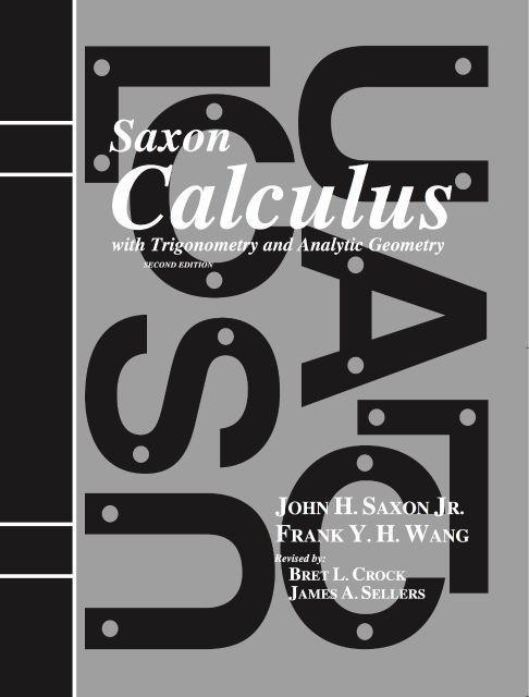 SAXON CALCULUS HOMESCHOOL KIT