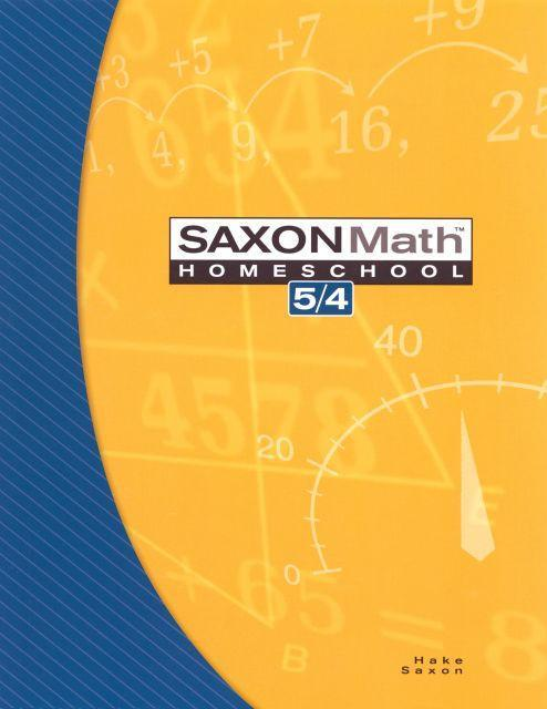 SAXON 5/4 HOMESCHOOL KIT