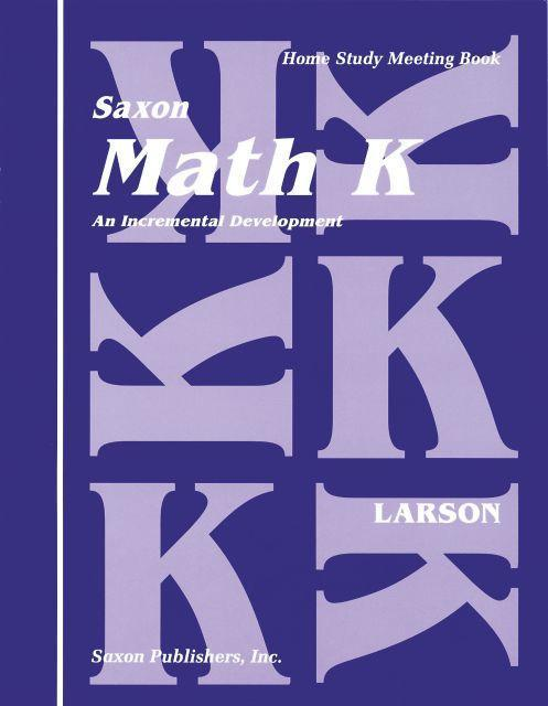SAXON KINDERGARTEN HOMESCHOOL KIT