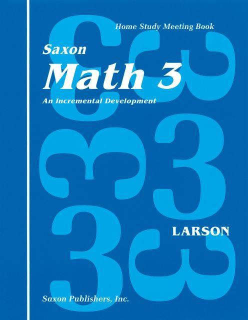 SAXON THIRD GRADE HOMESCHOOL KIT