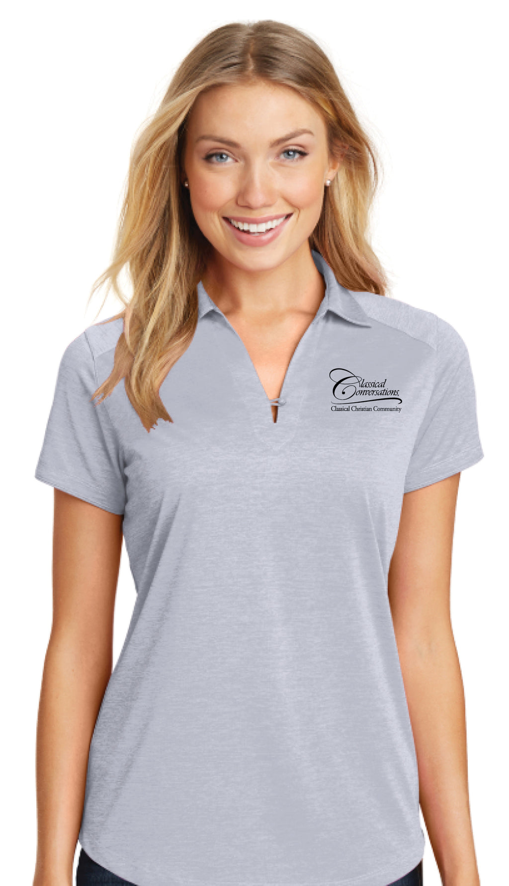 Women's CC Polo Shirt- Gray - While Supplies Last