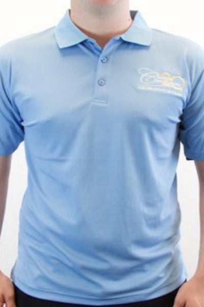 Men's Ultra Club Cool & Dry Mesh Pique Polo- Columbia Blue.      WHILE SUPPLIES LAST!!