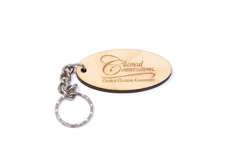Wooden Engraved CC Key Chain