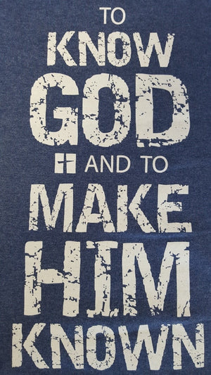 CC Heather Blue To Know God T-Shirt
