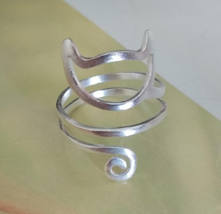 Sterling Silver Wrap Cat Ring