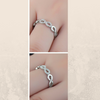 Sterling Silver with CZ Infinity Ring