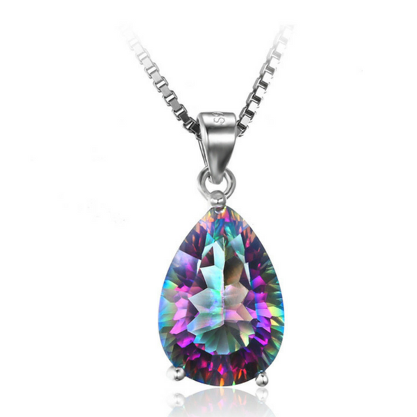 SALE! Rainbow Fire Topaz Pendant