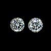 CZ Simulated Diamond Stud Earrings