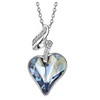 Austrian Crystal Heart Pendant Necklace