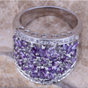 Purple Amethyst Cocktail Ring