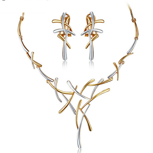 Abstract Branch Design Jewelry Set