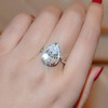 4 Carat Pear Shaped Engagement Ring