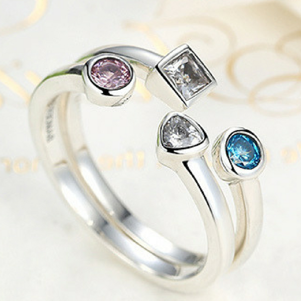 Sterling Silver CZ Stack Rings