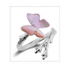 Pink Shell Butterfly Ring