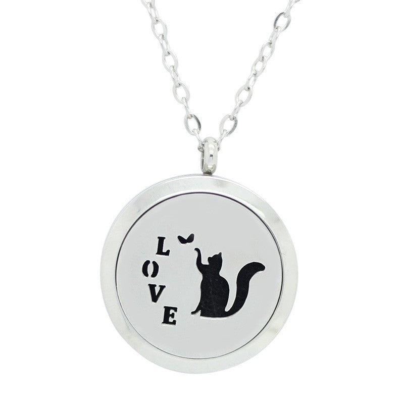 Cat Love Aromatherapy Diffuser Necklace