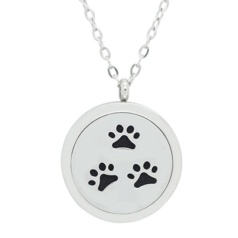 Paw Print Aromatherapy Diffuser Necklace