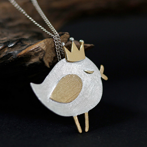 Bird with a Crown Pendant