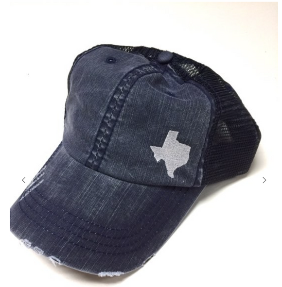 Texas Distressed Navy Hat