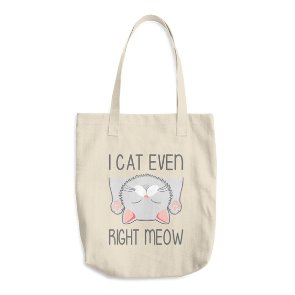 I Cat Even Right Meow - Beige Tote Bag