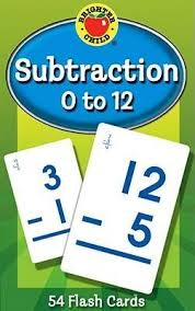 Subtraction 0 to 12 Flashcards