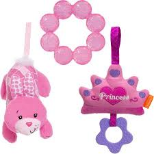 Teethe and Rattle Royal Play Set Princess Set de sonajero y articulo para dientes