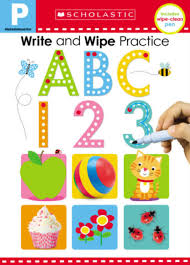 Write and wipe practice abc 123