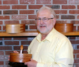 Bill Keller of Keller Krafted with his Shaker Style Oval Boxes