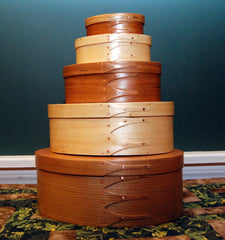 Shaker Style oval boxes by Bill Keller