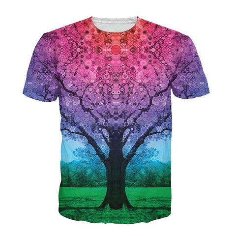 Star Tree Colorful T-Shirt