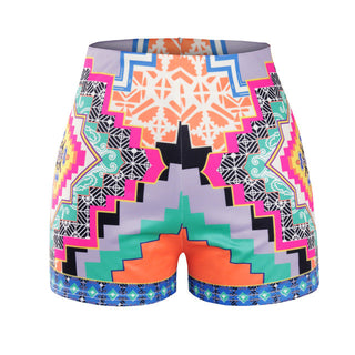 Aztec Print Casual Shorts